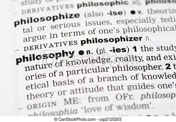 Définition étymologie philosophie