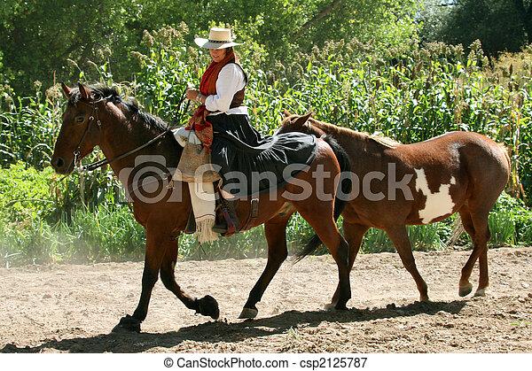 Southwestern Cowgirl - csp2125787