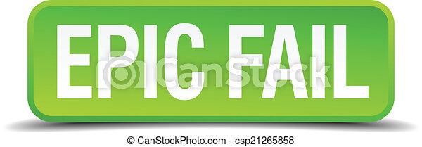 Epic Fail Clipart Vector Epic Fail Green 3d