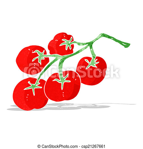 Clip Art Vector of tomatoes on vine illustration ...