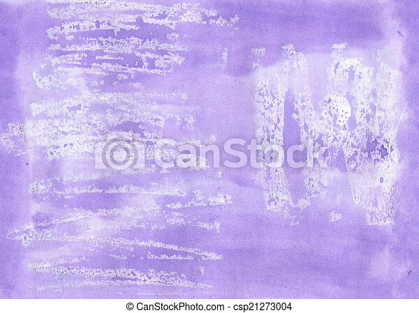 Handmade lilac  aguacolour background for scrapbooking and other - csp21273004