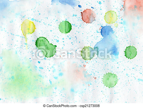 Handmade colorful  watercolor  backdrop  for scrapbooking and ot - csp21273008