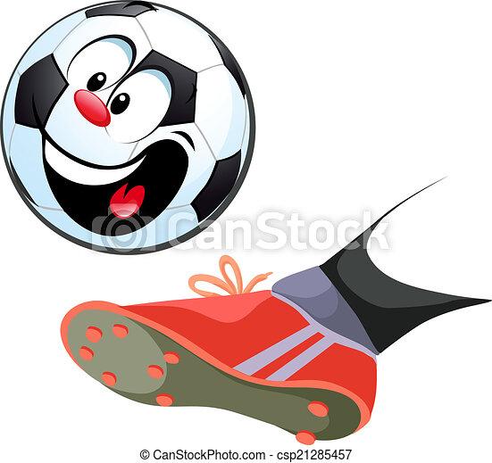 Foot Kicking Funny Soccer Ball - 47.9KB