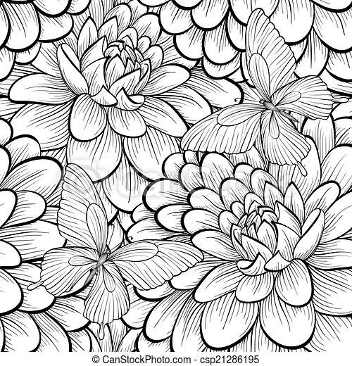 witte achtergrond tekening bloemen - photo #32