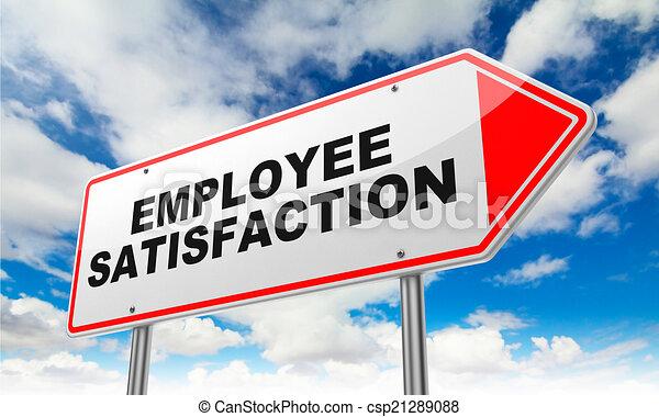 従業員, 満足, 碑文, 赤, 道, 印 ...