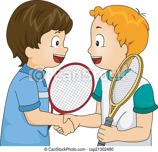 Vector of Sportsmanship Handshake - Illustration Featuring ...
