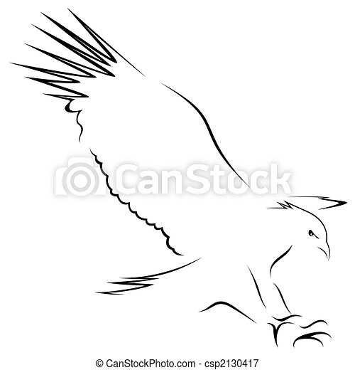 An eagle with wings open - csp2130417
