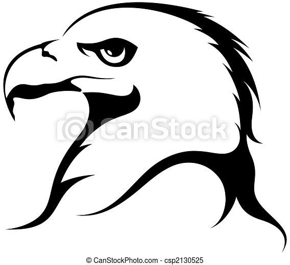 illustrations de aigle eagle t te isol blanc. Black Bedroom Furniture Sets. Home Design Ideas