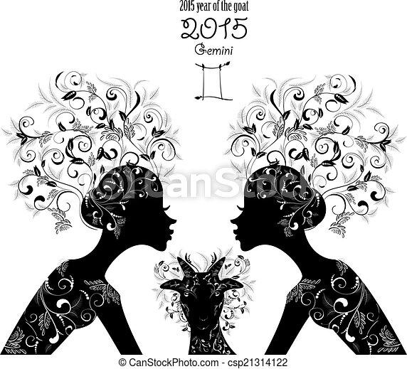 Gemini Horoscope Drawings And Zodiac Sign Gemini