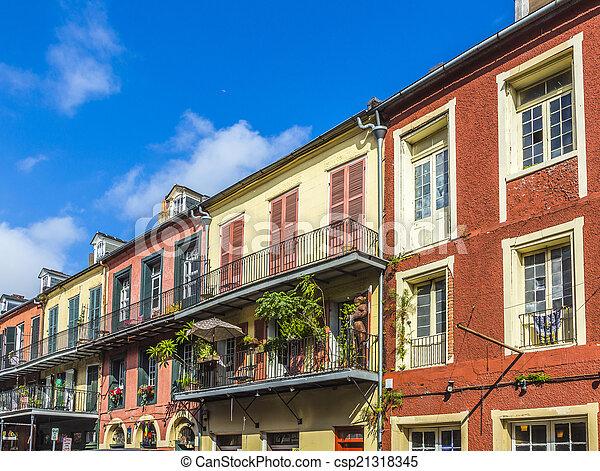 建物, 四分の一, 歴史的, フランス語 - csp21318345
