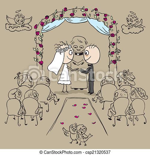 vecteurs de c r monie mariage glise mariage c r monie dans csp21320537 recherchez. Black Bedroom Furniture Sets. Home Design Ideas