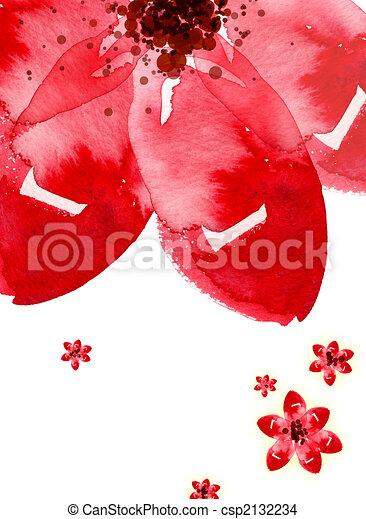 aquarela, flor - csp2132234