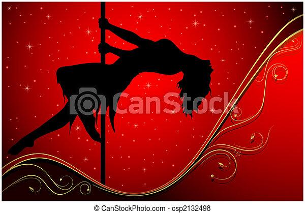 Sexy pole dancer - csp2132498