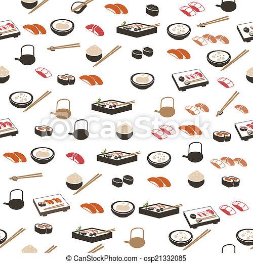 Japanese food seamless pattern - csp21332085