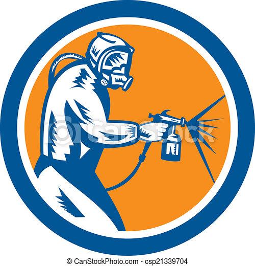 Paint Gun Logos Spray Paint Gun Painter