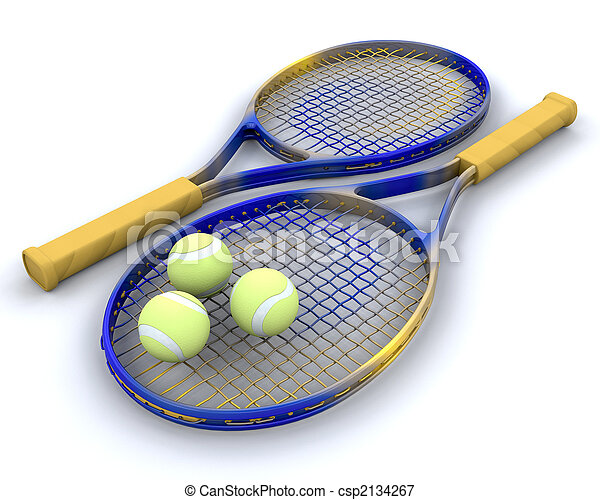 tennis raquet and balls - csp2134267