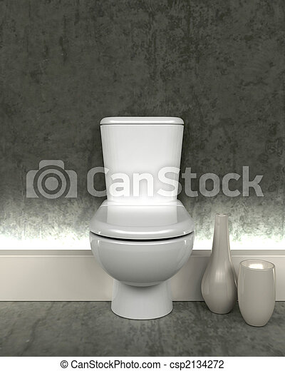 3d render of contemporary toilet - csp2134272