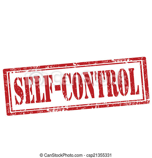 Vectors of Self-Control-stamp - Grunge rubber stamp with ...