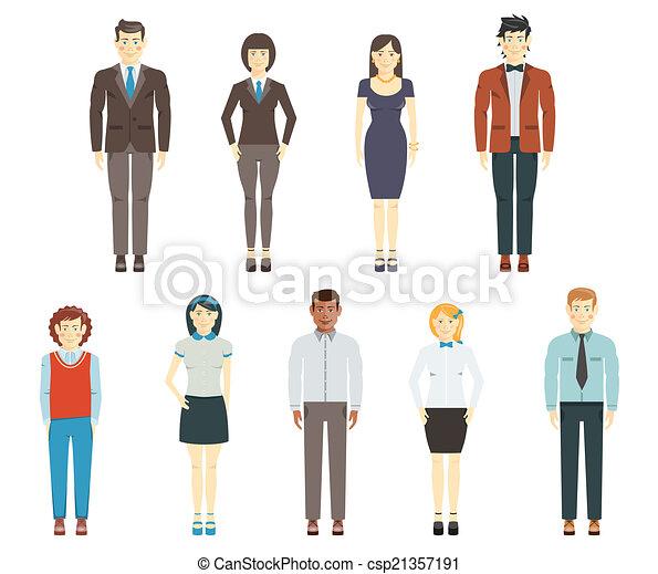Office dress for men clipart