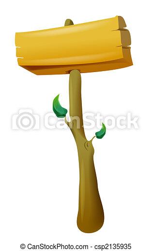 Wood notice board - csp2135935