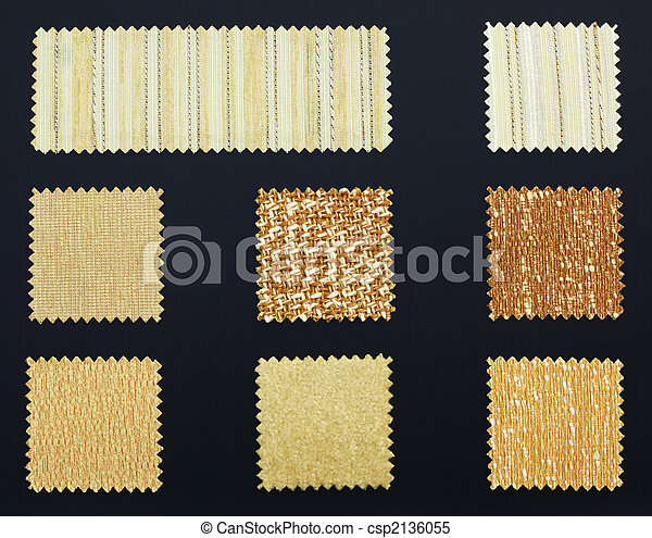 Multicolored furniture fabric samples - csp2136055