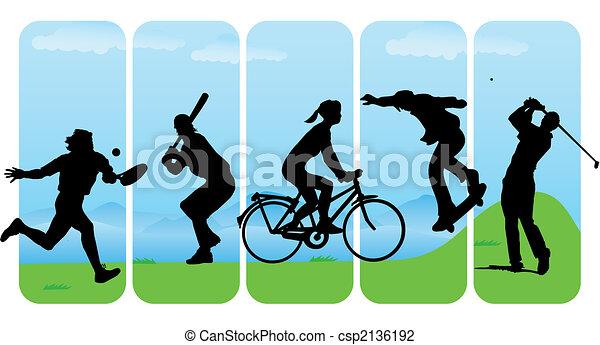 Illustration Vecteur De Silhouettes Sport Loisir Sport