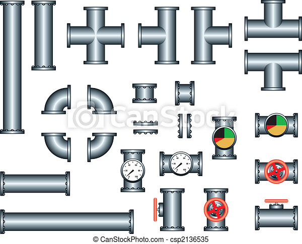 plumbing pipe construction set - csp2136535