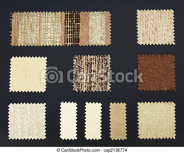 Multicolored furniture fabric samples - csp2136774