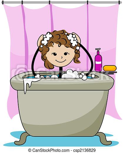illustration de bain gosse bath kid csp2136829 recherchez des cliparts vecteur des. Black Bedroom Furniture Sets. Home Design Ideas