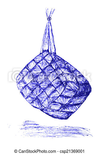 Vector Clipart of Ketupat, indonesia traditional food, isolated on ...