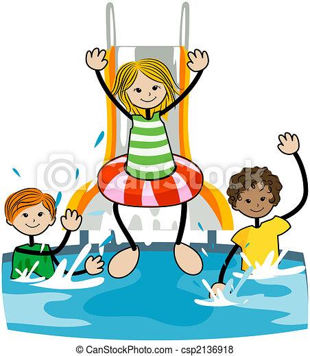 Illustration de gosses piscine piscine gosses - Clipart piscine ...