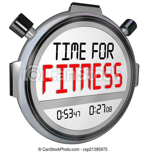 illustration temps fitness mots chronom tre minuteur formation exercice banque d. Black Bedroom Furniture Sets. Home Design Ideas