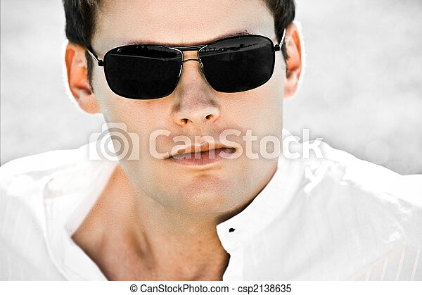 Attractive Man With Sunglasses - csp2138635