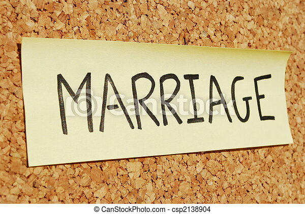 Marriage keyword on a cork board - csp2138904