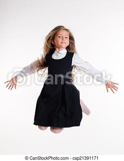 Bouncing girl - csp21391171