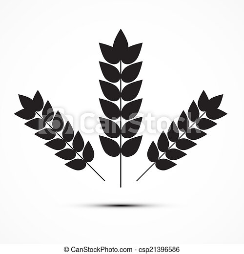 Vector Ears of Wheat Icon Illustration - csp21396586