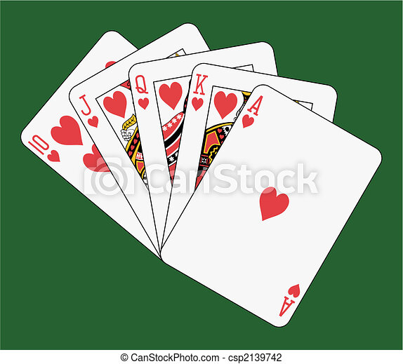 Royal flush heart - csp2139742