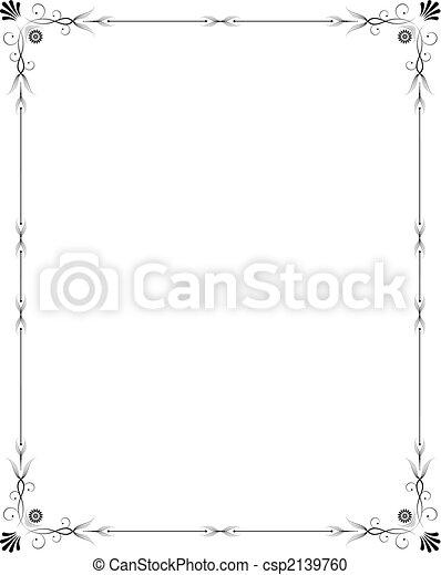 Elegant frame - csp2139760