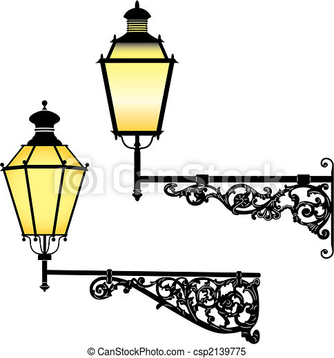 Wall street lamps - csp2139775
