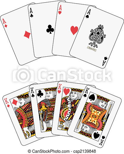Aces and kings poker - csp2139848