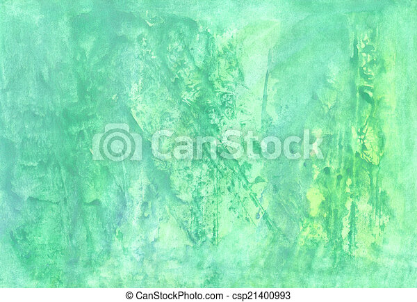 Abstract aguarelle  green  background  for scrapbooking and othe - csp21400993