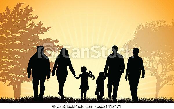 Illustrazioni vettoriali di camminare famiglia insieme for Camminare in piani di progettazione dispensa