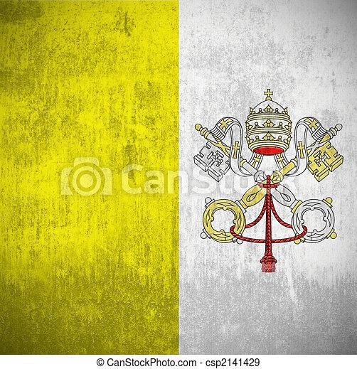 Grunge Flag Of Vatican  - csp2141429