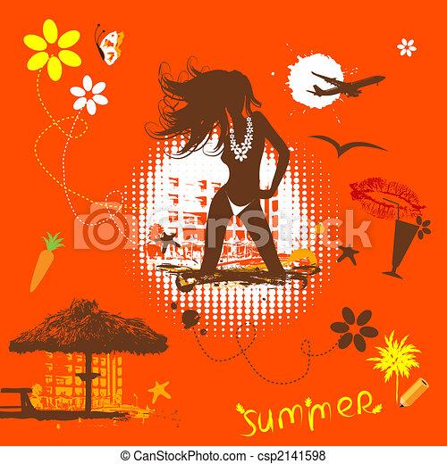 Summer vacations dream - csp2141598