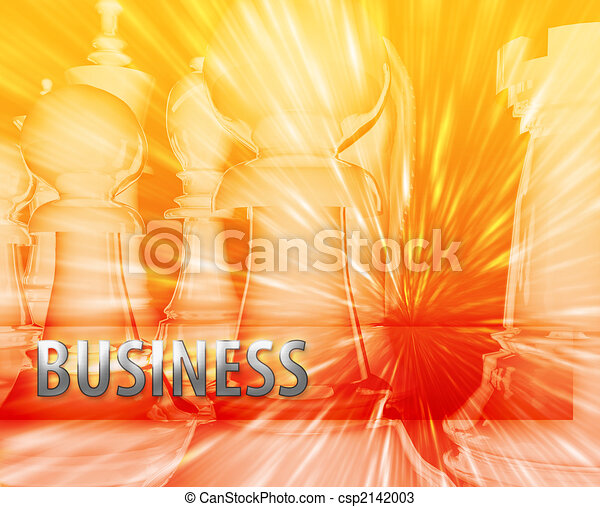 Abstract business strategy management chess themed illustration - csp2142003