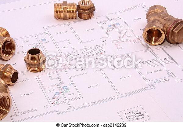 Blueprint and plumbingl items