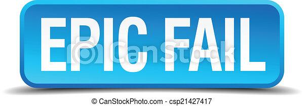 Epic Fail Clipart Vector Epic Fail Blue 3d
