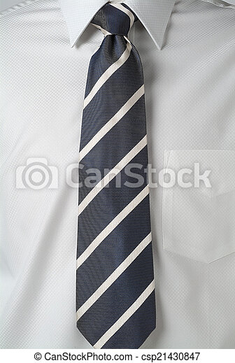 black tie on white shirt
