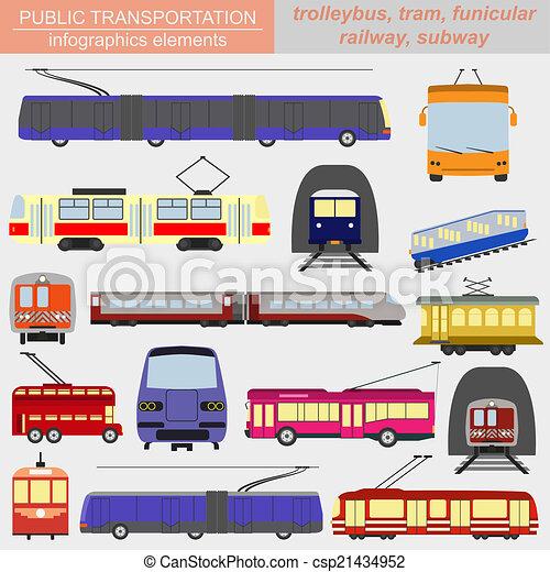 Public transportation icon - csp21434952