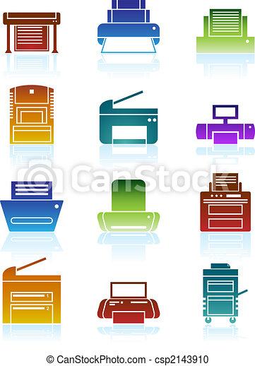 Printer Icons Color - csp2143910